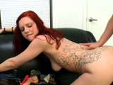 Dirty redhead sweetie Ginger Maxx feels well on top