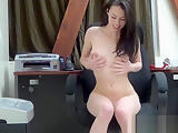 Cute girl getting naked for us