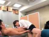 Boyz totally mistreating young whore in the office