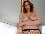 VR BANGERS Sexy ginger babe teasing and fingering pussy