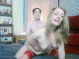 Peppermint and Dusty doggy fucking with red fishnet stockings