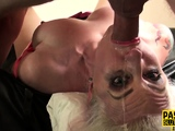 Dominated inked milf gets pounded and throats