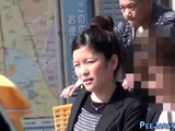 Asian office workers pee
