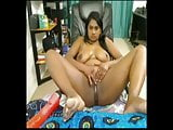 Horny Chubby indian girl masturbating her squirting pussy
