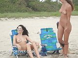 Two Gorgeous Beach Exhibitionist