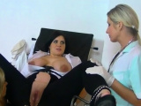 Amazing blond gets her little muff fully stretched
