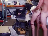 Amateur pawnshop babe doggystyle fucked after bj