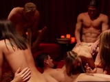 Steamy swinger meeting in the Jacuzzi