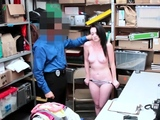 Lever enters hole of an aroused Athena Rayne