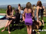 Hot swinger party with a sexy group of open minded couples.