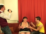 Fat mommy and boys teen threesome fucking