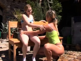 Three young teen anal xxx Kate & Tanya in the sun