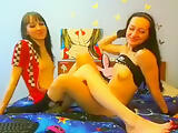 AlenaLove with his girlfriend showed lesbian show