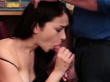 Nasty brunette babe busted by a perverted policeman