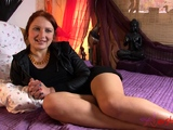 Solo action with the super hot redhead milf darja
