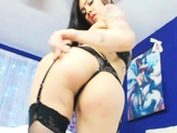 Cute Oriental sweetheart with sexy body solo masturbation