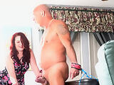 LADY SEETRAH GETS A KICK OUT OF ABUSING THESE COCK AND BALLS.