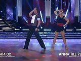 Blonde Married Reporter Anna Brolin Performing Hot Cha Cha
