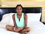 Sassy ebony Brie Dawn gets hammered from behind