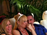 Hot swinger orgy with roleplay sex games