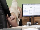 VIP4K. Busty blonde Blanche gives herself to loan
