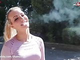 MyDirtyHobby - Hot MILF blows while smoking and facialized