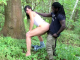 German MILF Sina Velvet Deep Interracial Outdoor Fuck