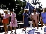 Retro CFNM - guys get naked for a group of women