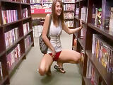 2 Sluts flashing and teasing in book store