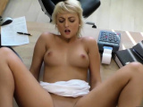 VIP4K. Blonde-haired miss has sex for cash with loan