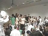Topless girls at student initiation