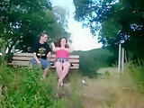 Sex with the gf on a bench in nature
