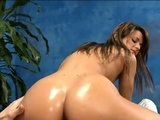 Beguiling brunette Mali Myers enjoys a wet session