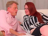 naughty red mature autumn temptation get pussy filled with