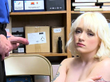 Teen blonde shoplifter fucked by officer for stealing dildo