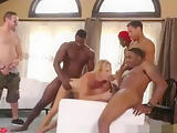 Silicone hot wife Gets BBC Gangbang