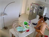 husband Fucks wife in the kitchen