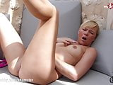 MyDirtyHobby - Petite blonde anal training with thick dildo